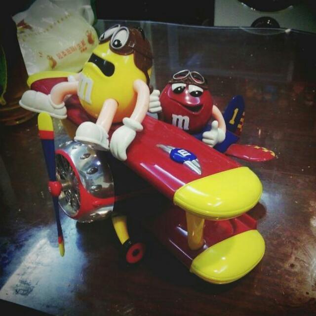 M&M巧克力飛機玩具
