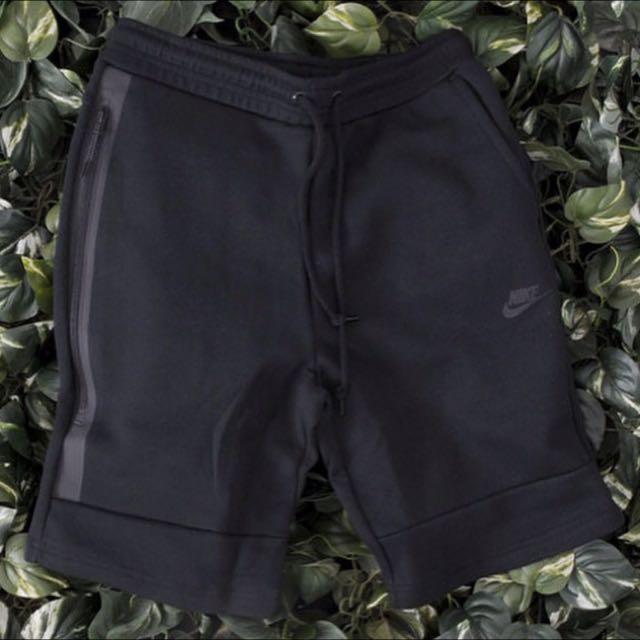 Nike Tech Fleece Shorts 潛水材質束口綿短褲 超好看👀 黑色