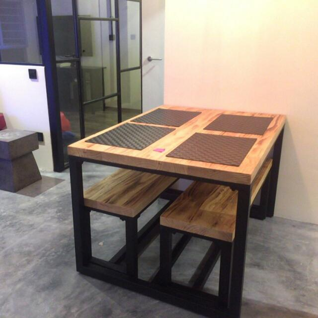 Solid Wood Dining Table Model The Butcher Block Furniture On