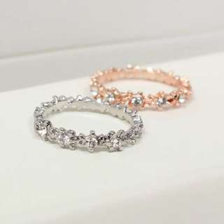 🇰🇷氣質鑲鑽戒指💍銀金兩色