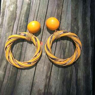 Vintage 1970's Hoop Earrings