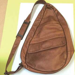 1970's Vintage Leather Crossbody Bag