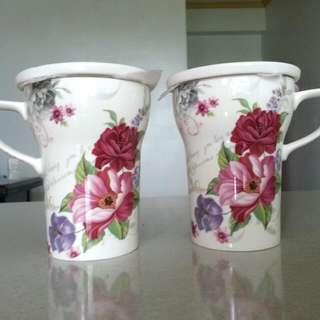 [全新]花朵對杯