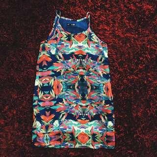 Geo Tropical Dress