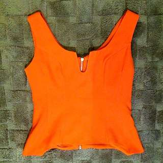 Orange Maxim Top