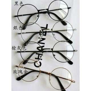 (預購等7天)複古正圓金屬眼鏡