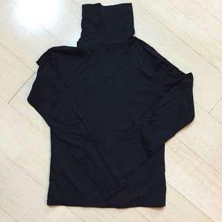 全新 高領 套頭 素色 黑色