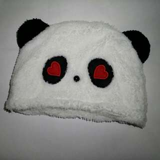 Cute Love Panda Head Cap
