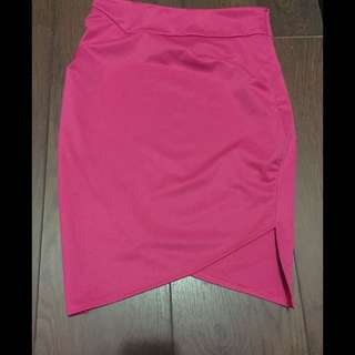 Double Index Pencil Bright Pink Skirt