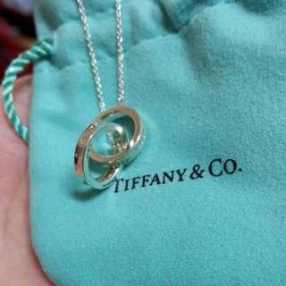 大降價!Tiffany&Co 1837 純銀中號鎖環圈型項鍊