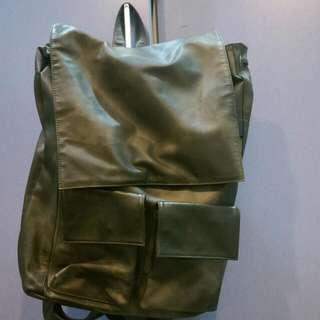 已降價 急售 日韓風格 皮製 高質感後背包