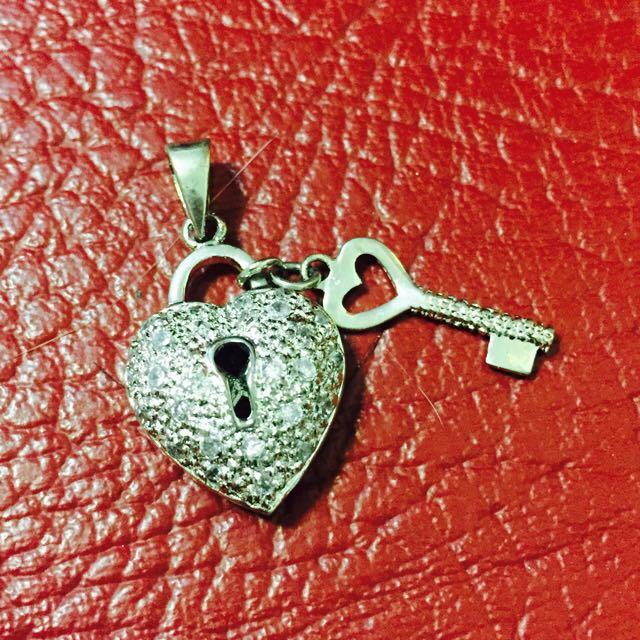 925純銀墜飾 心鎖❤🔒