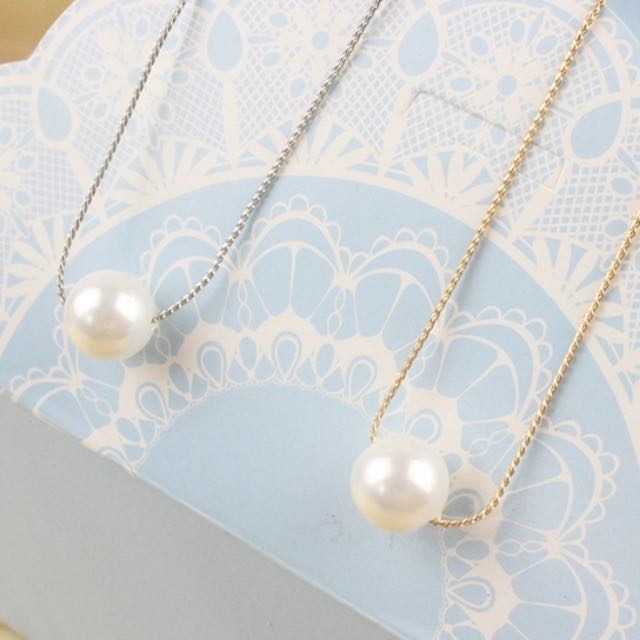 🇰🇷氣質珍珠項鍊-銀金兩色