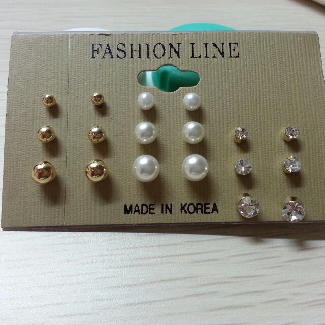 (保留) 韓*簡單氣質造型耳環組