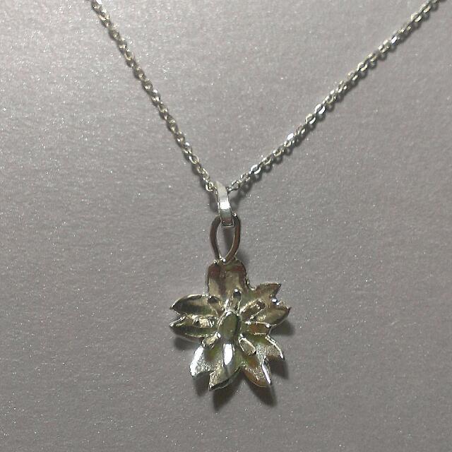 純銀手工花朵項鍊