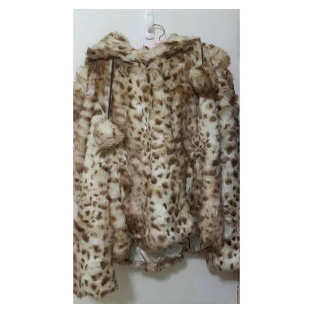 ASOS豹紋假皮草外套 全新的!