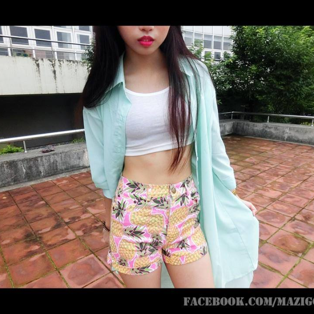 BIG SALE!!!夏威夷鳳梨QQ短褲