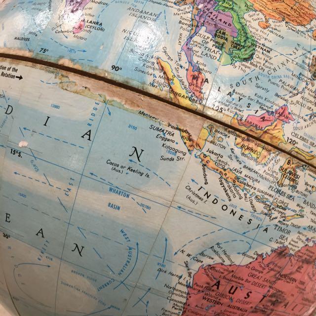 Props Rental Available Huge Original Vintage 1960 S World Map 360