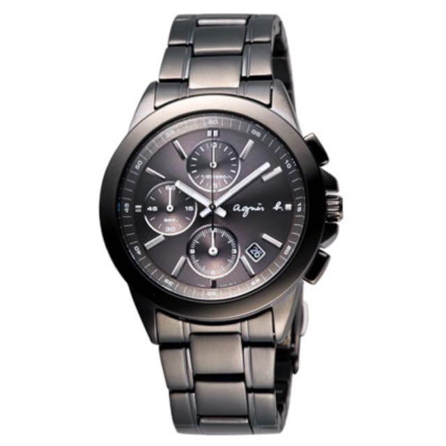 全新 agnes b. 魔幻精靈三眼計時腕錶(限時特價中)