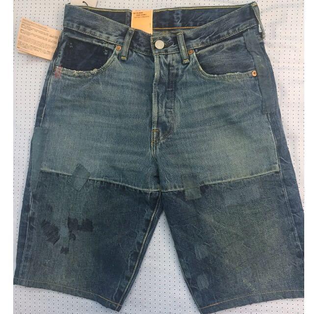 🔹✨全新✨Levi's 501拼接牛仔短褲