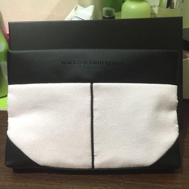 narciso rodriguez 櫻花粉 化妝包 收納包