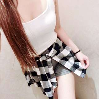 格子褲裙~