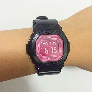 二手 CASIO BABY-G BG-5601-4 桃紅黑 手錶/電子錶