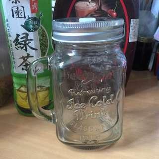 玻璃杯可插吸管(全新)