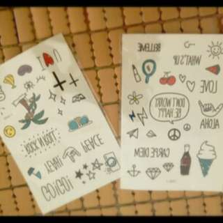 韓國時尚流行小物-防水紋身貼紙(匯款確認中)