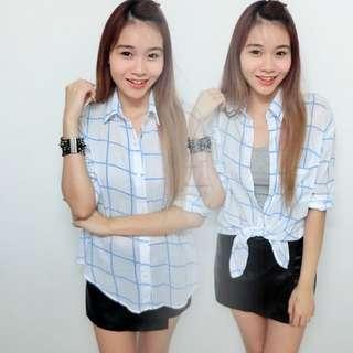 BN Blue Checker Outwear