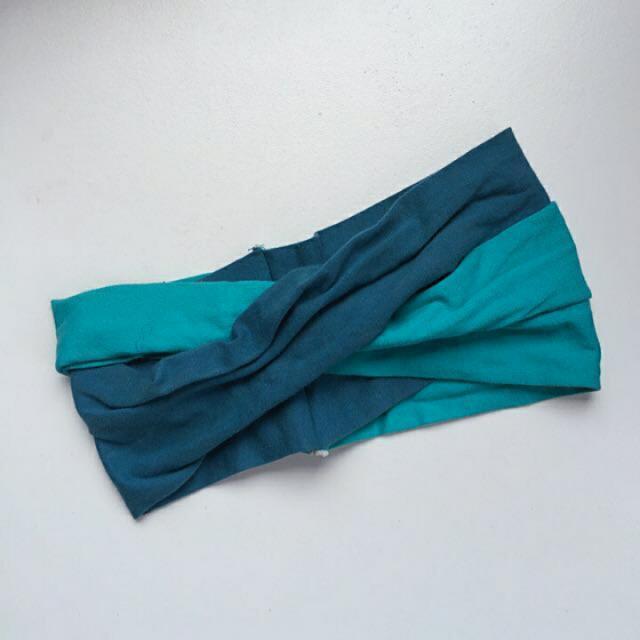 ✌保留✌ 藍綠綠藍撞色髮帶
