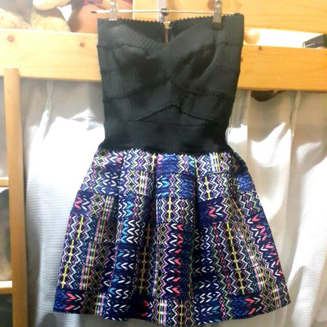 <全新🆕洋裝>平口繃帶洋👗