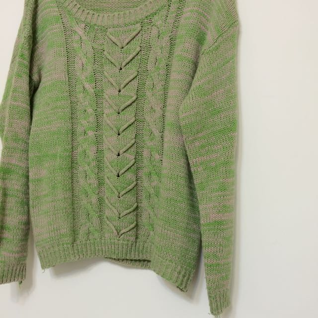 (出清)編織古著毛衣