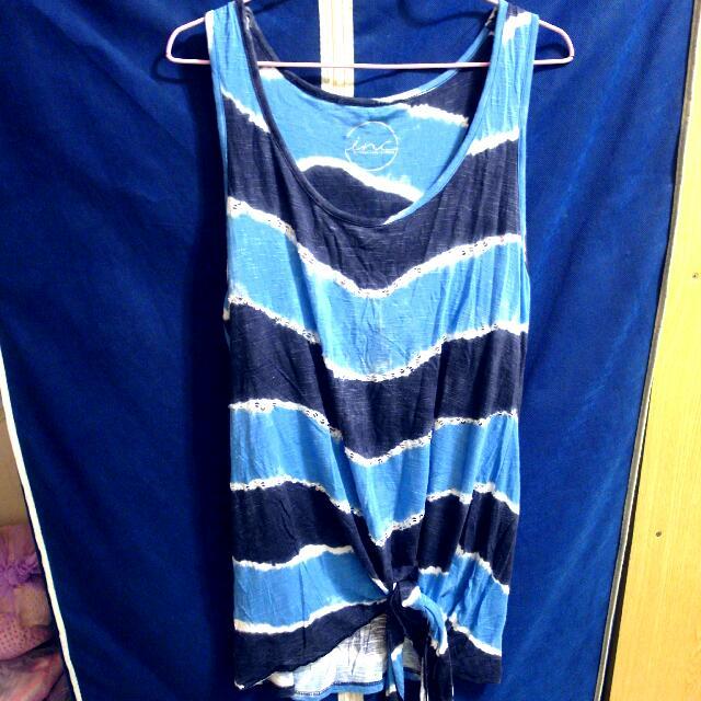 夏天最愛 水藍色創意背心