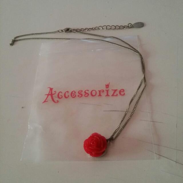 Accessorize 玫瑰 項鍊