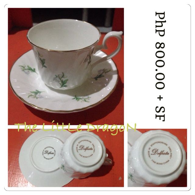 Delfesta Teacups and Saucers