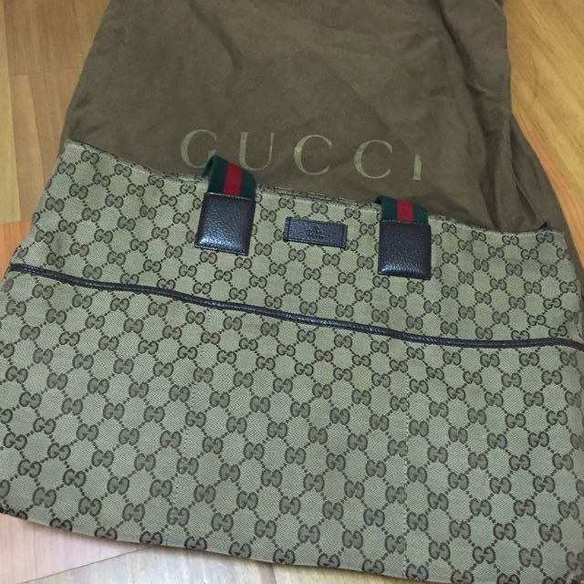 Gucci 帆布側背包