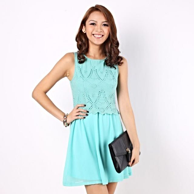 MGP Arabella Eyelet Dress in Green [M]