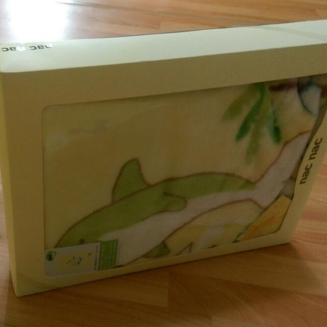 【nac nac】海豚抗菌毛毯禮盒 全新
