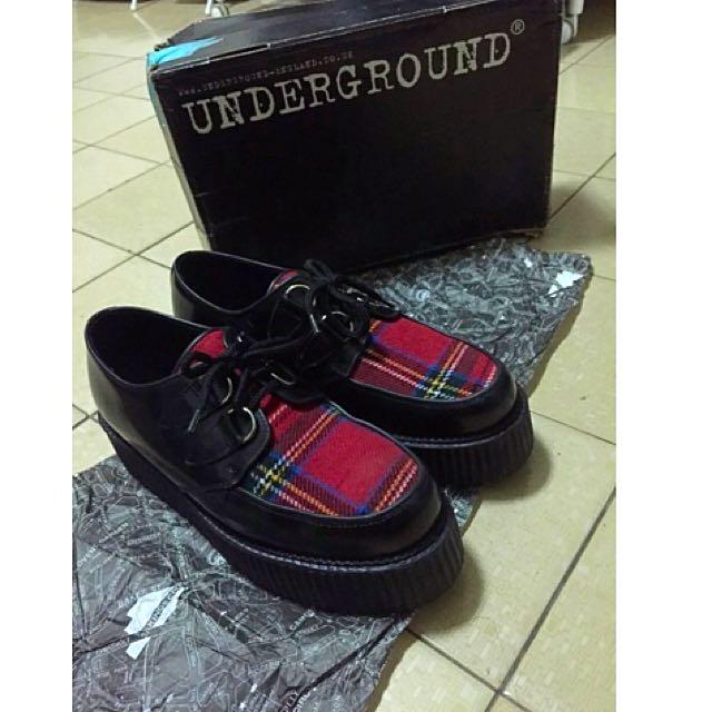 underground正版厚底鞋