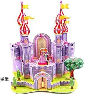 3D Soft Foam Jigsaw Princess Castle