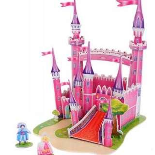 3D Soft Foam Jigsaw - Pink Princess Castle