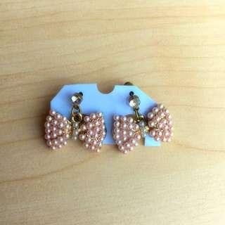 Pearl Bowknot Earring