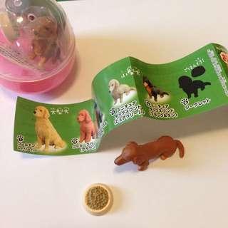 【扭蛋轉蛋】狗狗 坐姿 臘腸 交換