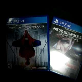 Metal Gear Solid V And SpiderMan 2 (PS4)