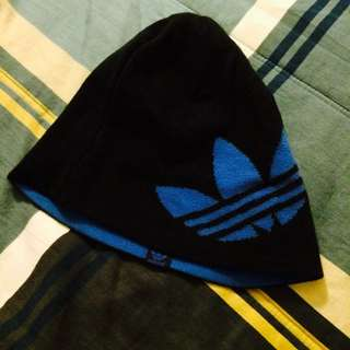 Adidas黑色毛帽 二手