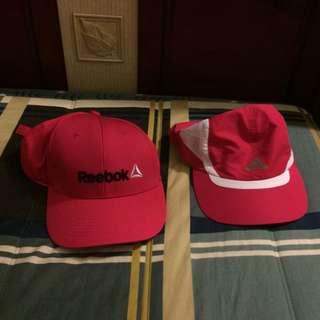 Reebok Adidas 慢跑運動帽子
