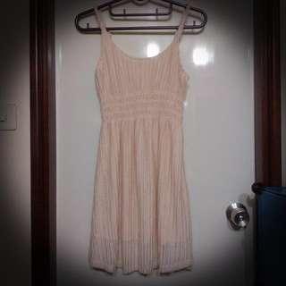 全新。韓。金線編織感短洋裝。
