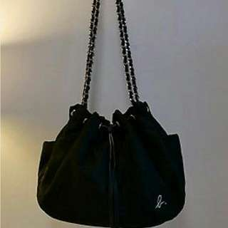 Agnes B drawstring Bag With Gold Hardware