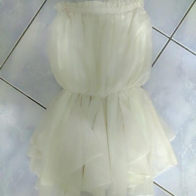 雪紡平口小洋裝